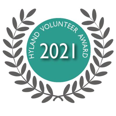 Rita Bouvier and Bruce Rice awarded the 2021 Hyland Volunteer Awards